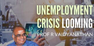 With the advent of Electric Vehicles just around the corner, the country faces the prospect of a whole swath of people losing jobs such as mechanics/ automotive maintenance personnel etc. Similarly AI will also lead to existing job losses. Which raises an important question - how will these jobs be restored and what about new jobs, post a COVID world? Prof RV asks the questions and also provides answers.
