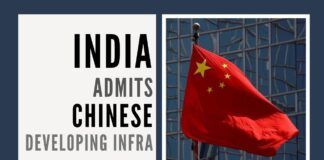 India admits on the floor of Parliament of Chinese developing infra along the LAC