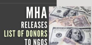 MHA releases the list of donors to NGOs in the past four years