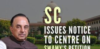 Supreme Court directs Central Government to respond to Swamy's petition to modify the Places of Worship Act