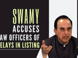 Swamy expresses his ire at Law Officers playing tricks in the apex court on denying his cases from coming up for hearing