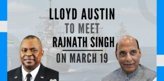Def Sec Austin to meet with RM Rajnath Singh on Mar 19 to discuss China, Covid and more