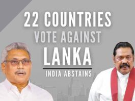 22 countries vote against Sri Lanka on its Human Rights record; India abstains