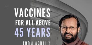 India widens its vaccination program, includes everyone 45 years and above