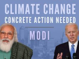 Underlining the urgency for the World to go green, Modi trots out India's record
