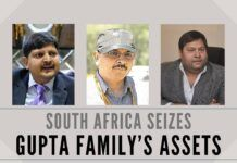South Africa is turning the screws on the fugitive Gupta family's assets, attach USD 1.3 million from a bank account