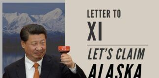 We need to now lay a claim on Alaska! It used to be a part of the USSR, so we can always say it was stolen from China!