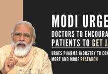 Modi convened a meeting with top doctors and urged them to encourage more and more patients to come forward and get the jab