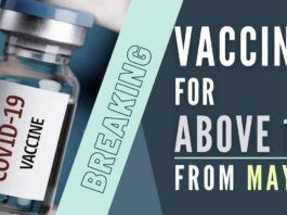 Under the third phase of the vaccination drive commencing next month, all above 18 years will be vaccinated
