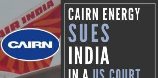 What little chance Indian Govt. had of privatizing Air India goes up in smoke as Cairn Energy sues it in a US Court