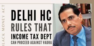 Delhi HC rules that IT can proceed against Vadra in the Black Money Act related case of acquiring a London property