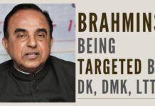 Brahmins being targeted by DK, DMK and Rump elements of LTTE