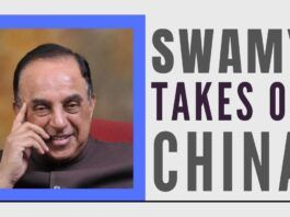 Senior BJP leader Subramanian Swamy shows China a mirror