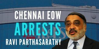 A major victory for 63 moons group as Ravi Parthasarathy, a minion of PC has been booked by EOW