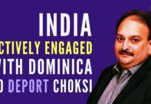 Mehul Choksi, currently in the custody of the Dominican govt., is being sought to be deported to India, says MEA spokesperson