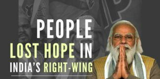 The author takes a dig into the reasons behind voters losing faith in the right-wing?