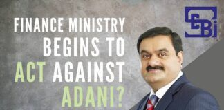 Is the Finance Ministry finally beginning to act against Adani firms?
