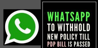 Is WhatsApp telling Indian Govt that it won't comply while doing so in EU?