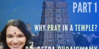 Dr. Deepa Duraiswamy on the difference between praying at home and a temple, what Agamas are about