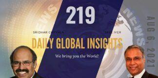 EP 219   Daily Global Insights   Aug 6, 2021   Global News   US News   India News   Markets