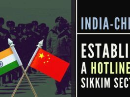 In a move that will reduce tensions, India and China establish a hotline in the Sikkim sector