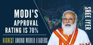 A website dedicated to tracking the approval rating of Global leaders ranks Modi the most popular