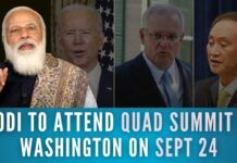 Prime Minister Narendra Modi will travel to the United States next week to participate in the first in-person QUAD summit