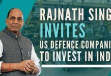 India's Defence Minister invites US Defence companies to forge joint ventures