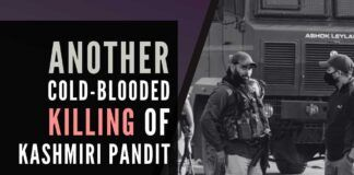 The calm in the valley shattered with another cold-blooded killing of a Kashmiri Pandit