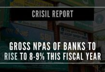 Crisil paints a grim picture of the growing bad loans of Indian Bankswhich together form close to 40% of banks credit, are expected to see higher accretion of NPAs