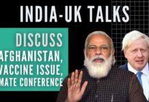 The two PM's discussed the strength of UK-India relationship, climate action in context of upcoming COP-26 in Glasgow