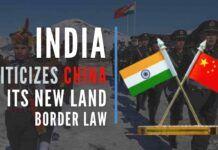 India slams China on its new land-border law