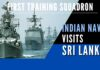 Sri Lanka Navy will conduct several training exercises with the visiting Training Squadron of the Indian Navy in Colombo and Trincomalee