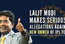 Lalit Modi took to Twitter to take a dig at BCCI for allowing 'betting investing company' to buy new IPL team