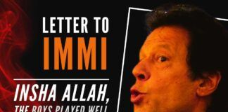 My Letter To - Dear Immi, Insha Allah, The Boys Played Well
