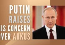 """Putin on AUKUS said, """"it is good to be friends with each other, but bad to be friends against someone."""""""