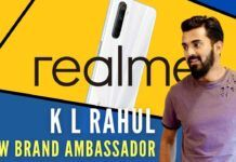 Realme announces appointment of Indian cricketer K L Rahul as its brand ambassador to endorse its smartphone category