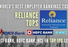 Forbes rankings are based on a large-scale survey where employees rated their employers on numerous points