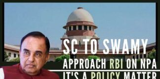 Apex Court allowed Swamy to make a representation before the RBI which can decide on making changes in extant guidelines